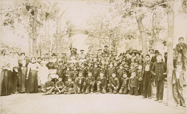 Old boarding school students class photo